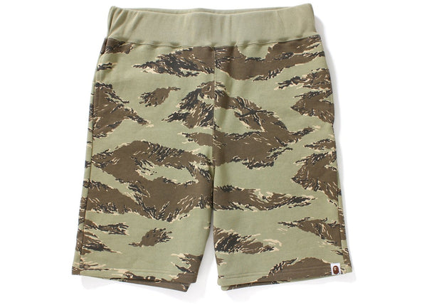 BAPE Tiger Camo Sweat Shorts Shorts Beige