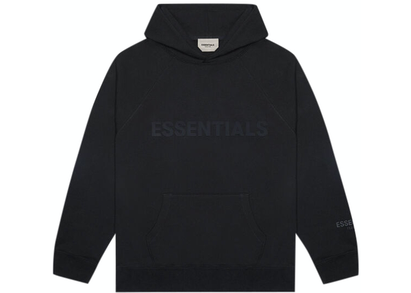FEAR OF GOD ESSENTIALS Pullover Hoodie Applique Logo Dark Slate/Stretch Limo/Black
