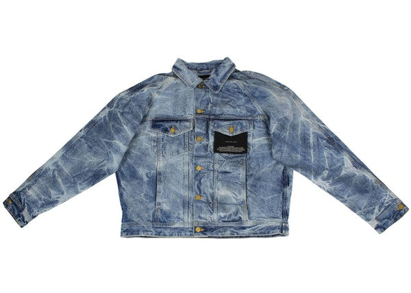 FEAR OF GOD Indigo Selvedge Denim Holy Water Trucker Denim Jacket Indigo