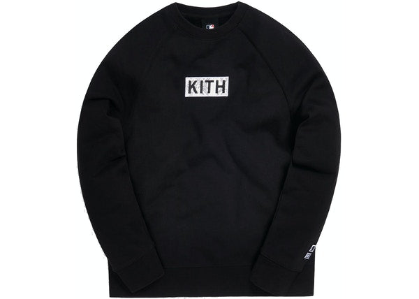 Kith For Major League Baseball Los Angeles Dodgers Arched Crewneck Black