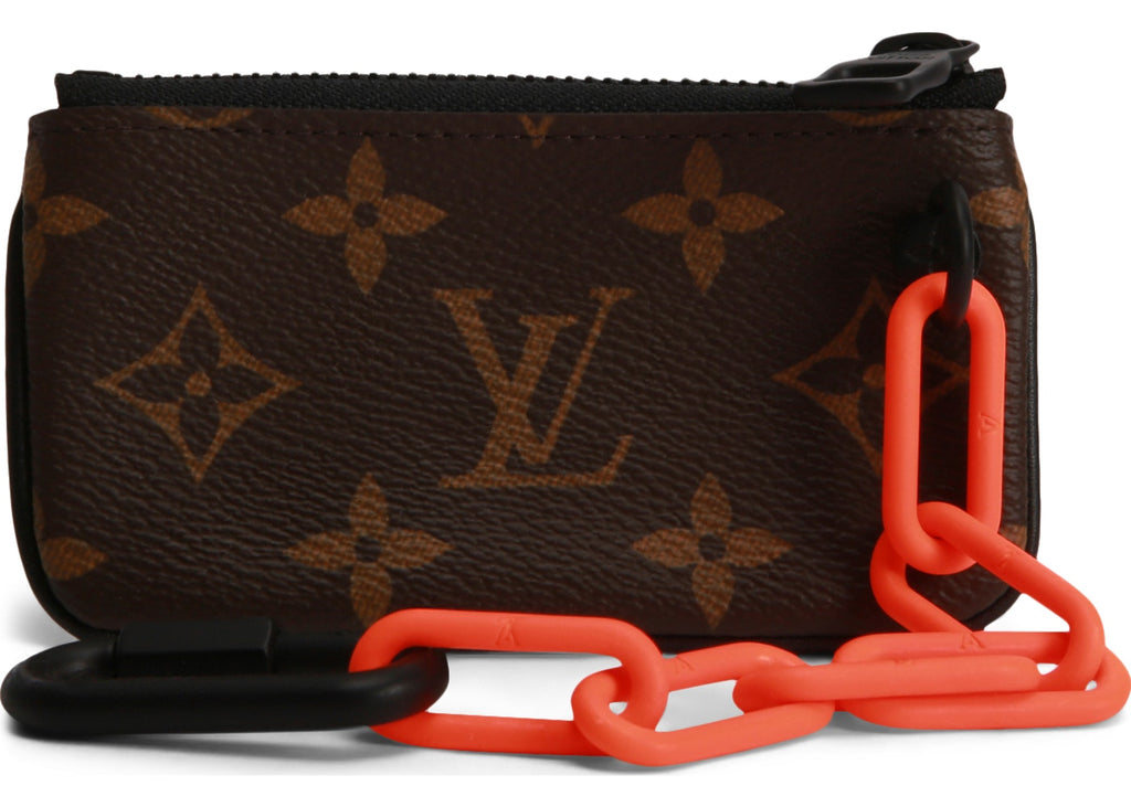 Louis Vuitton Pochette Cles Monogram Orange Brown