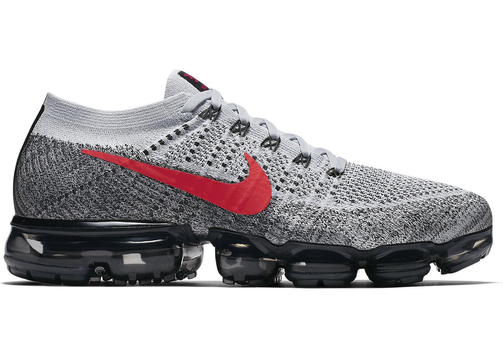Air VaporMax Platinum Red Black