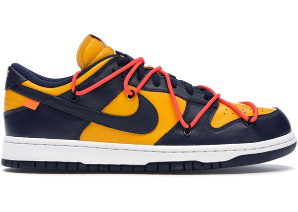 Nike Dunk Low Off-White University Gold Midnight Navy