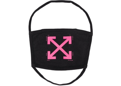 OFF-WHITE Arrows Over The Head Face Mask Black/Fuchsia