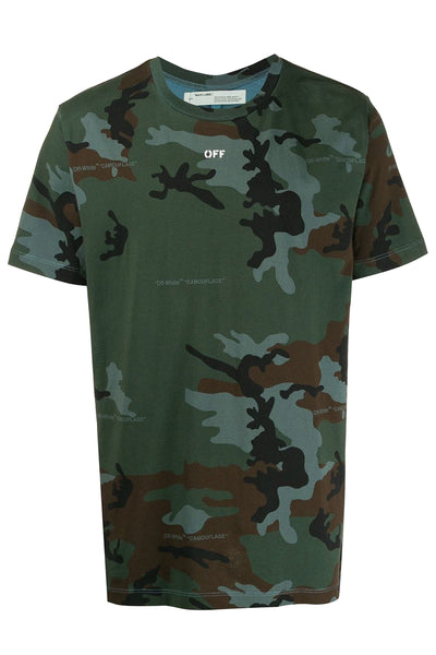 OFF-WHITE Camouflage Incompiuto T-Shirt Green/White