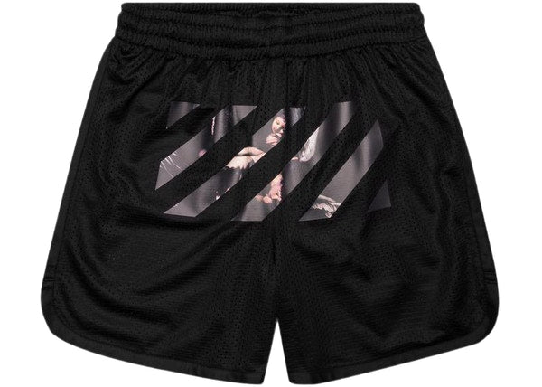 OFF-WHITE Caravaggio Arrows Mesh Shorts Black/Multicolor