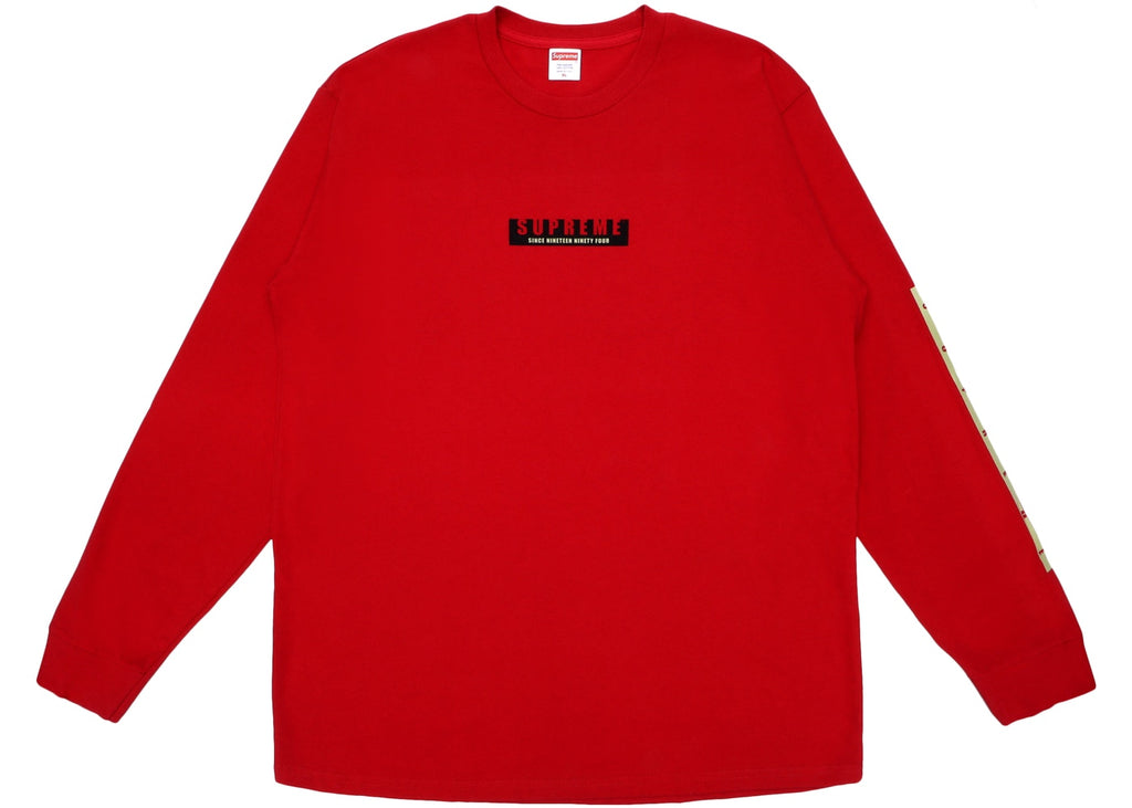 Supreme 1994 LS Tee Red