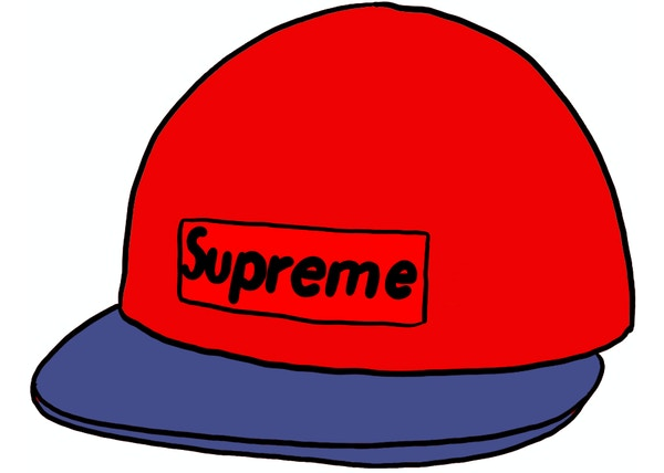 Supreme 2-Tone Denim Camp Cap Red