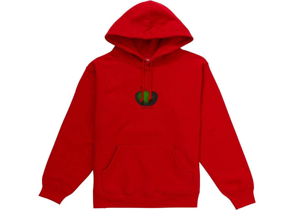 Supreme Apple Hooded Sweatshirt Red (2)