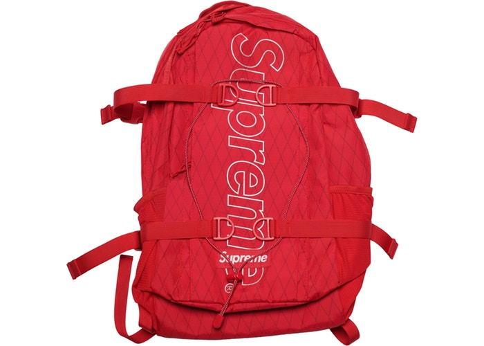 SUPREME FW18 RED BACKPACK