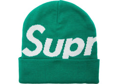 Supreme Big Logo Beanie Green