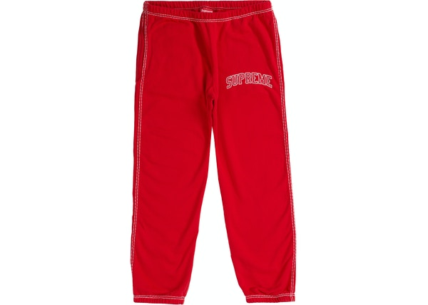 Supreme Big Stitch Sweatpant Red