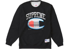 Supreme Champion Chrome Crewneck Black
