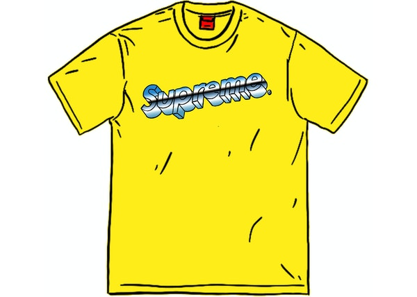 Supreme Chrome Logo Tee Yellow