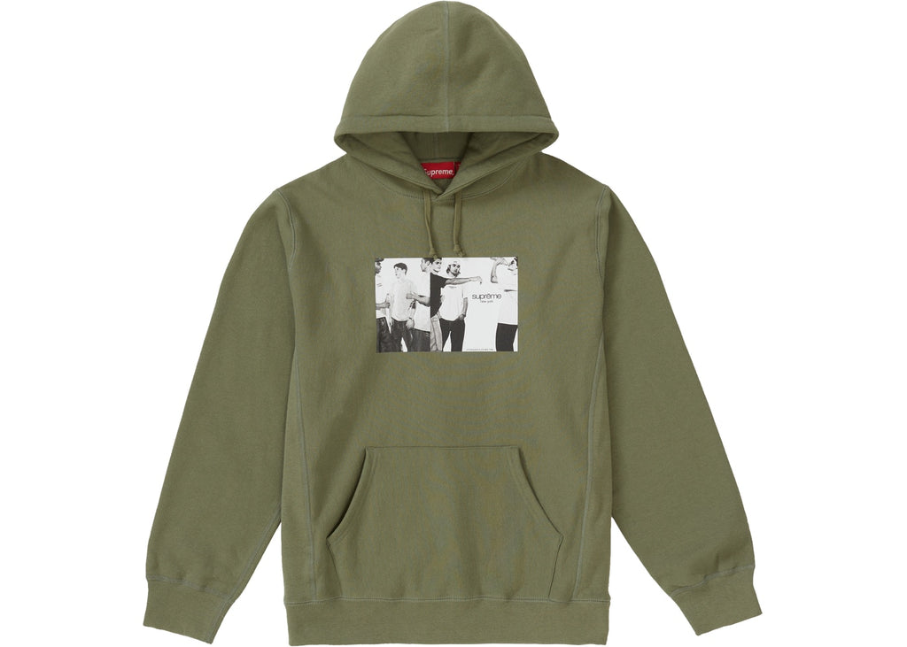Supreme Classic Ad Hooded Sweatshirt Light Olive