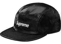 Supreme Coated Linen Camp Cap Black
