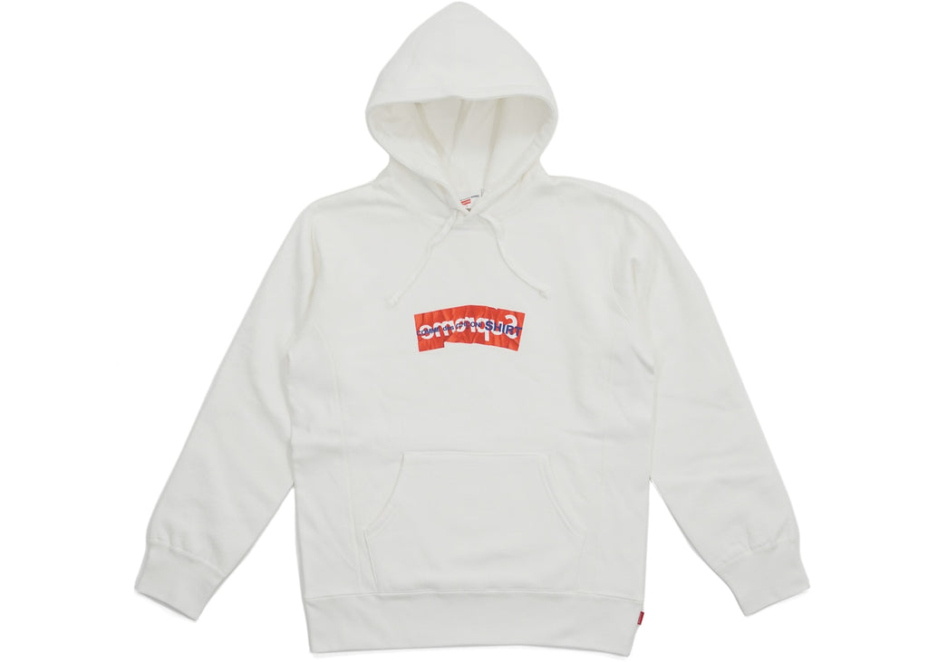 Supreme Comme Des Garcons SHIRT Box Logo Hooded Sweatshirt White