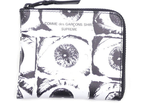 Supreme Comme des Garcons SHIRT Large Eyes Coin Pouch White