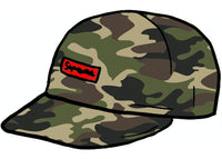 Supreme Cordura Small Box 6-Panel Woodland Camo