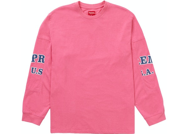 Supreme Cutout Sleeves L/S Top Pink