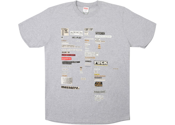 Supreme Cutouts Tee Heather Grey