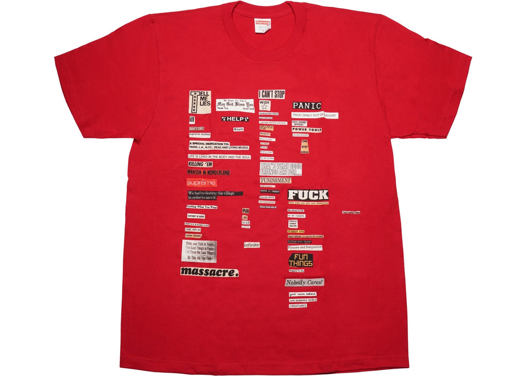 Supreme Cutouts Tee Red