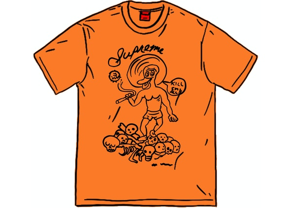 Supreme Daniel Johnston Kill Em All Tee Orange