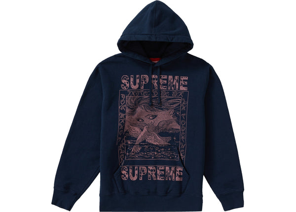 Supreme Doves Hooded Sweatshirt Navy