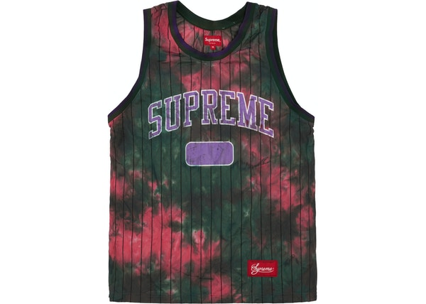 Supreme Dyed Basketball Jersey Green