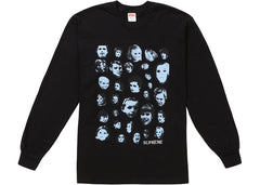Supreme Faces L/S Tee Black