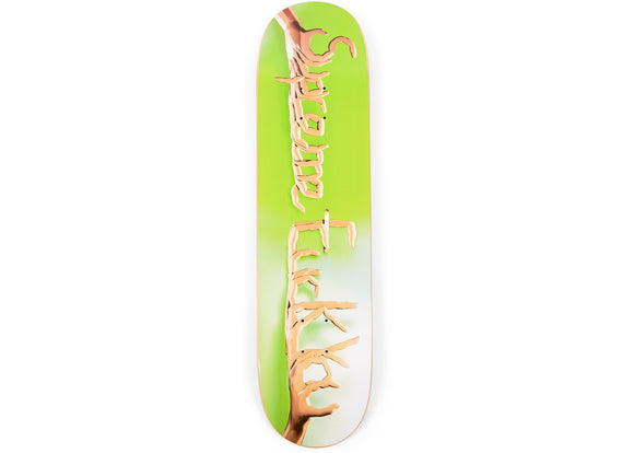 Supreme Fuck You Skateboard Skateboard Deck Green