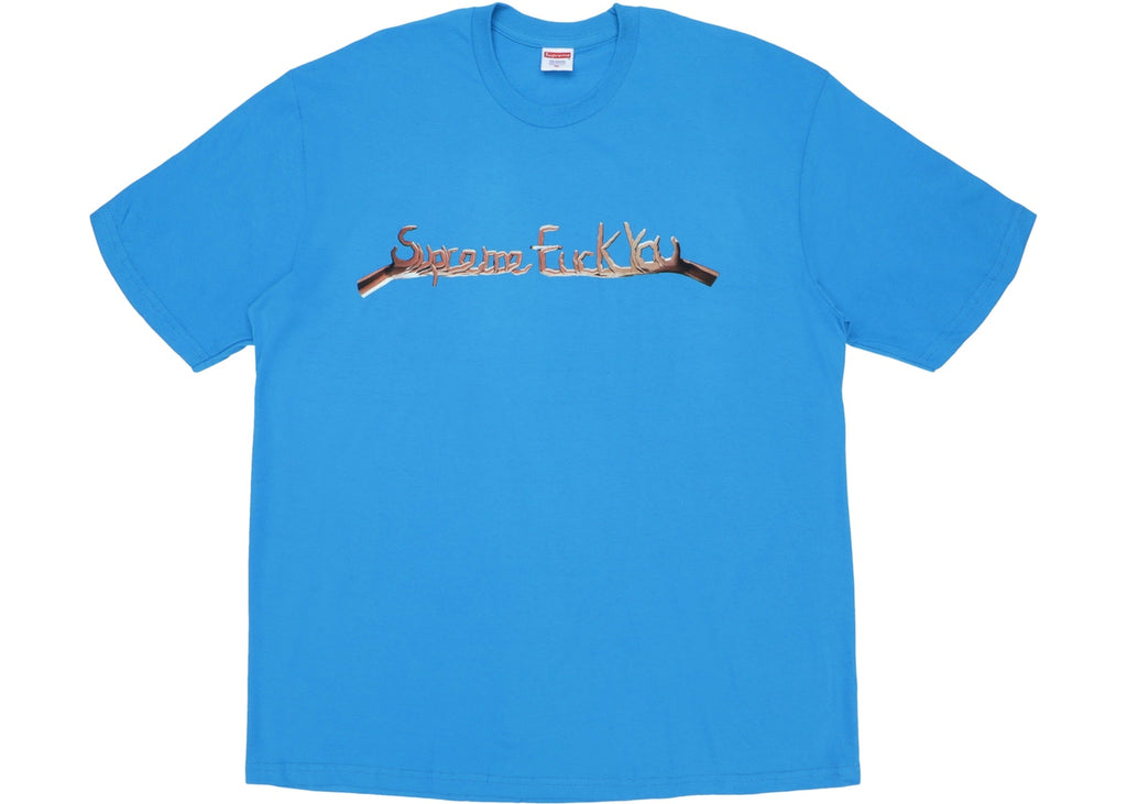 Supreme Fuck You Tee Bright Blue