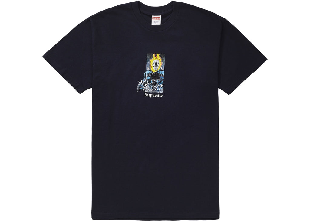 Supreme Ghost Rider Tee Navy