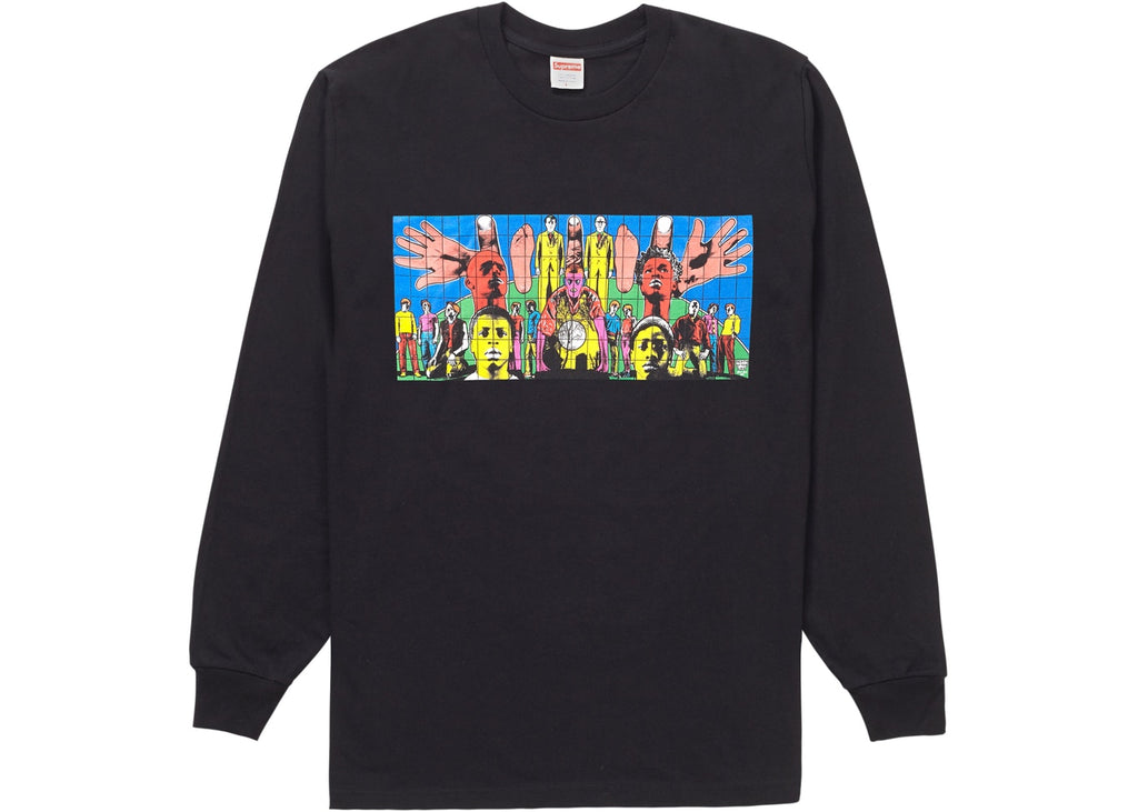 Supreme Gilbert & George DEATH AFTER LIFE L/S Tee Black