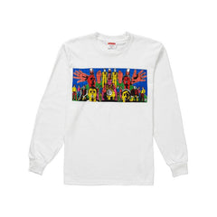 GILBERT AND GEORGE L/S TEE WHITE