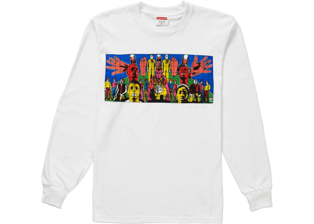 Supreme Gilbert & George DEATH AFTER LIFE L/S Tee White