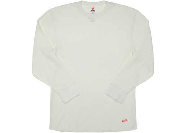 Supreme Hanes Thermal Crew (1 Pack) Natural