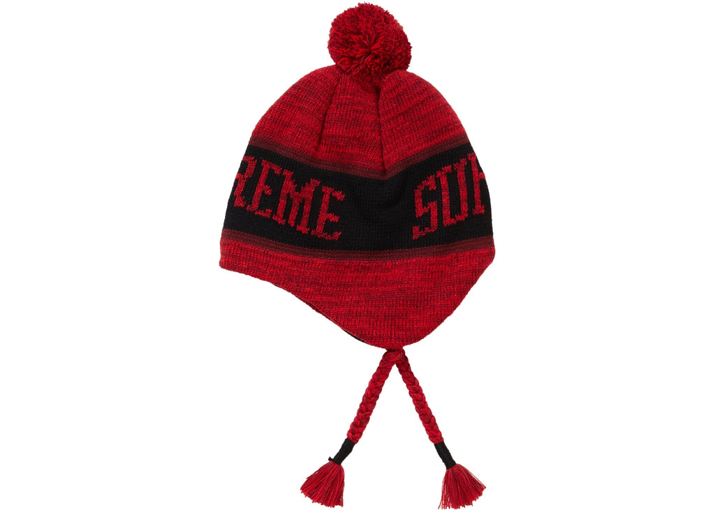 Supreme Heathered Earflip Beanie Red