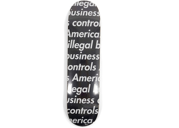 Supreme Illegal Business Skateboard Deck Black