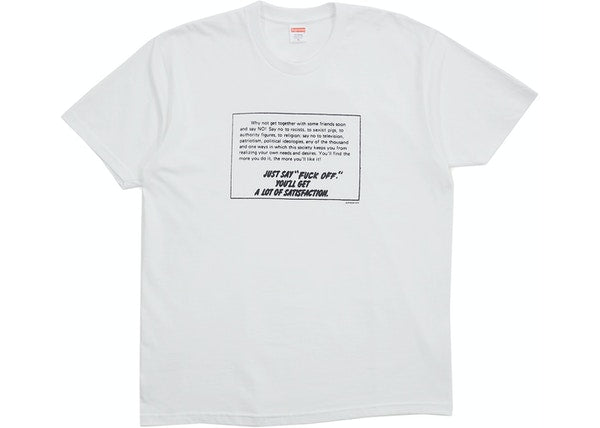 Supreme Just Say No Tee White