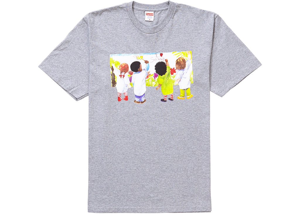 Supreme Kids Tee Heather Grey