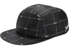 Supreme LACOSTE Reflective Grid Nylon Camp Cap Black