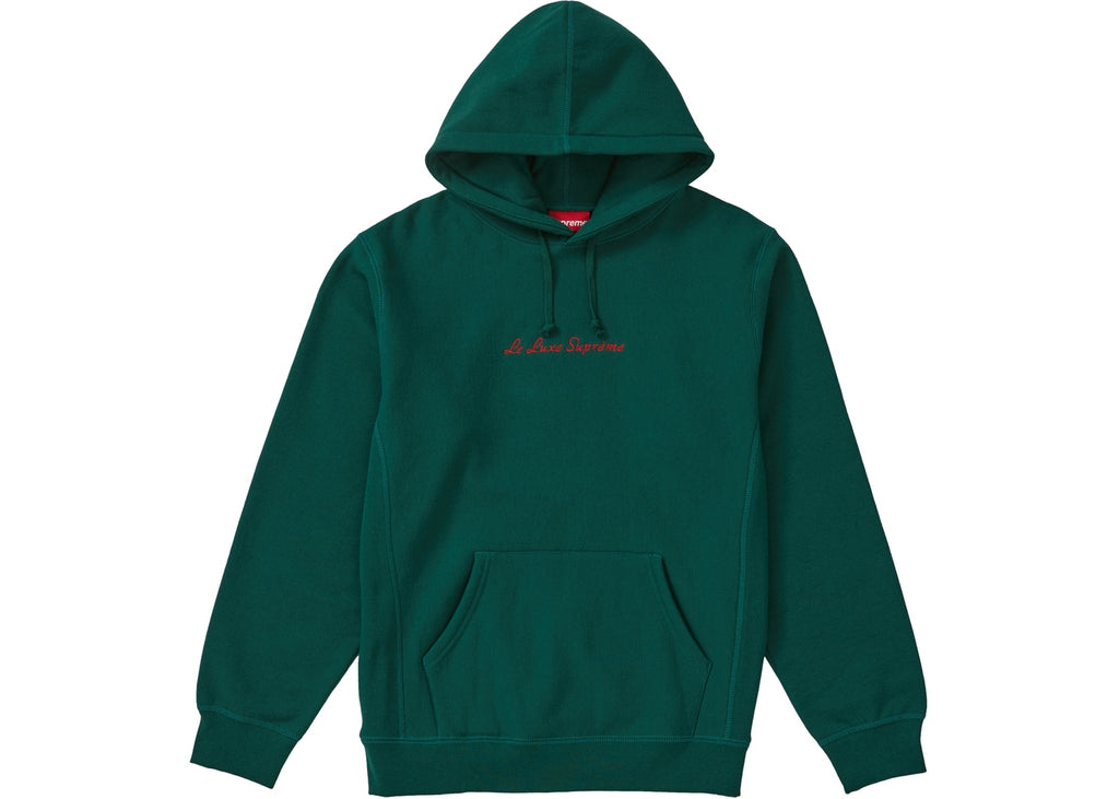 Supreme Le Luxe Hooded Sweatshirt Dark Green