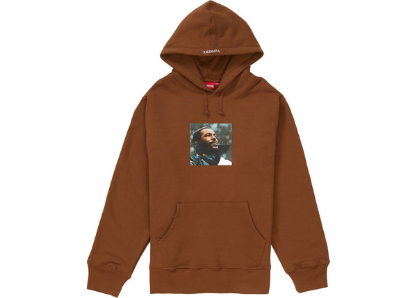 Supreme Marvin Gaye Hooded Sweatshirt Brown