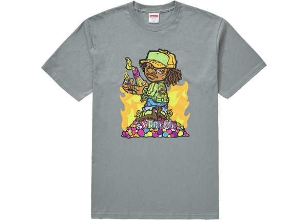 Supreme Molotov Kid Tee Dark Sage