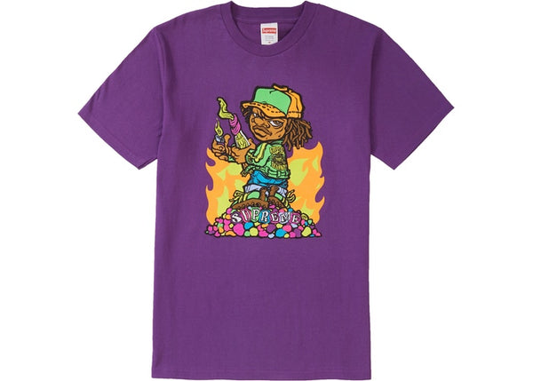 Supreme Molotov Kid Tee Purple
