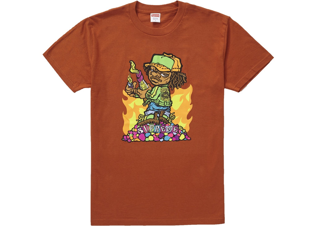 Supreme Molotov Kid Tee Rust