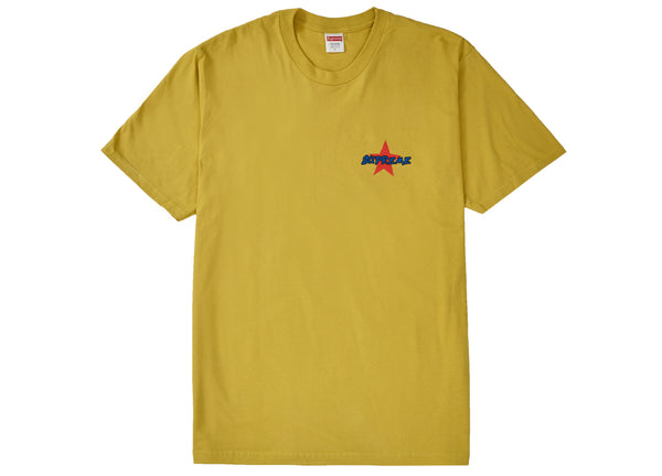 Supreme Money Power Respect Tee Acid Yellow