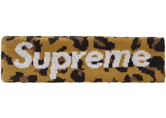 Supreme New Era Big Logo Headband (FW18) Leopard