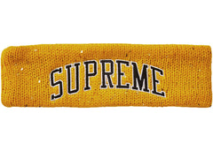 Supreme New Era Sequin Arc Logo Headband Yellow